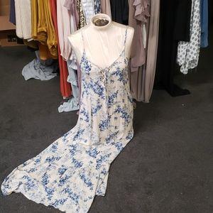 Baby Blues Floral Maxi Dress